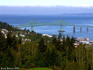 Image, 2005, Astoria-Megler Bridge, from Coxcomb Hill, click to enlarge