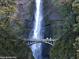 Image, 2005, Multnomah Falls, top of Lower Falls, click to enlarge