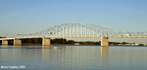 Image, 2005, Blue Bridge from Columbia Park, click to enlarge