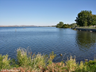 Image, 2005, Columbia River looking upstream of Irrigon, click to enlarge