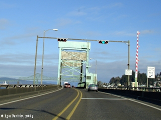 Image, 2005, Crossing Youngs Bay Bridge, click to enlarge