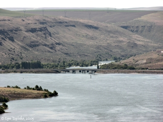 Image, 2005, Mouth of the Deschutes River, Oregon, click to enlarge