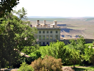 Image, 2005, Maryhill Museum, Washington, with Oregon's Columbia Plateau, click to enlarge