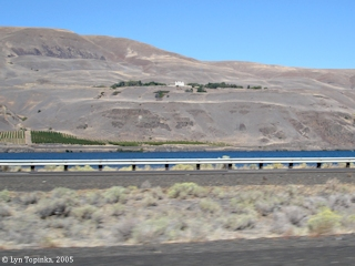 Image, 2005, Maryhill Museum, Washington, as seen from Interstate 84, Oregon, click to enlarge