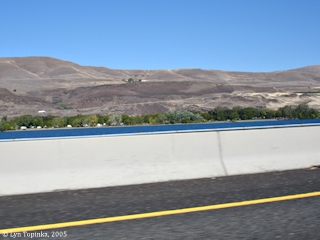 Image, 2005, Maryhill State Park, Washington, as seen from Interstate 84, Oregon, click to enlarge
