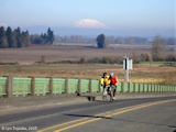 Image, 2005, Bicyclists, Mount St. Helens, Sauvie Island
