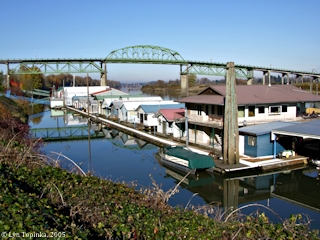 Image, 2005, Sauvie Island Bridge and the Multnomah Channel, click to enlarge