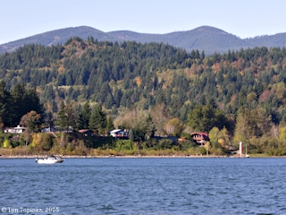 Image, 2005, at Skamania Landing looking upstream, click to enlarge