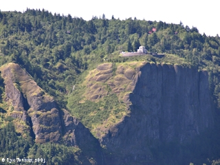 Image, 2005, Vista House from Washington State Highway 14, click to enlarge