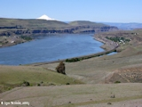 Image, 2005, Wishram, Washington, Celilo Park, Oregon, with Mount Hood, Oregon