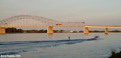Image, 2006, Pasco-Kennewick Bridge, skiing, from Columbia Park