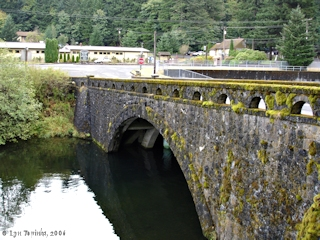 Image, 2006, Cascade Fish Hatchery and the Eagle Creek Bridge, click to enlarge