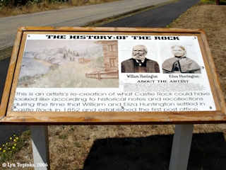 Image, 2006, Information sign, Castle Rock, click to enlarge