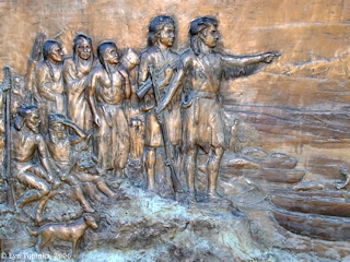 Image, 2006, Portland Women's Forum, Bronze, Lewis and Clark, click to enlarge