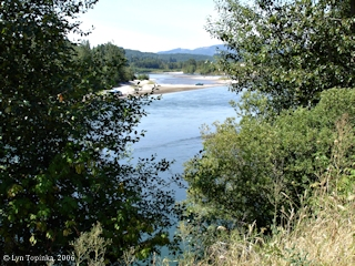Image, 2006, Cowlitz River at Castle Rock, click to enlarge