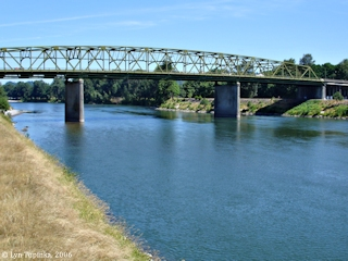 Image, 2006, Cowlitz River from the Kelso Bridge, click to enlarge