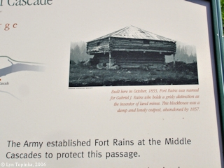 Image, 2006, Fort Rains information sign, click to enlarge