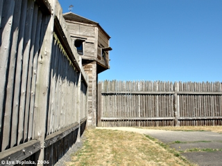Image, 2006, Palisade and Bastion, Fort Vancouver, Washington, click to enlarge