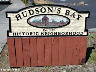 Image, 2006, Hudsons Bay Historic Neighborhood sign, click to enlarge