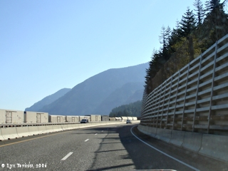 Image, 2006, Interstate 84 at Shellrock Mountain, click to enlarge