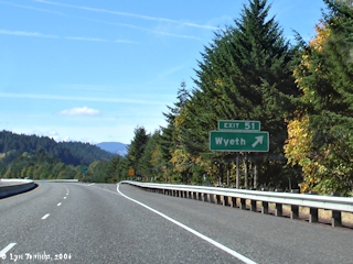 Image, 2006, Interstate 84 at Wyeth, Oregon, click to enlarge