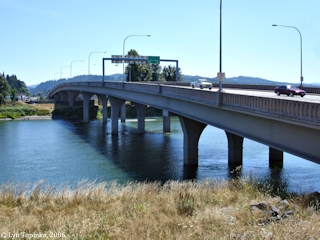 Image, 2006, Allen Street Bridge, Cowlitz River, Kelso, Washington, click to enlarge