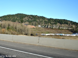 Image, 2006, Mount Talbert, Oregon, and Interstate 205, from the south, click to enlarge