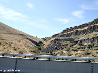 Image, 2006, Philippi Canyon as seen from Interstate 84, click to enlarge