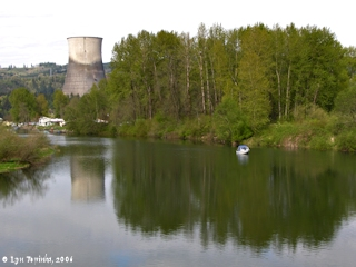 Image, 2006, Trojan Nuclear Facility, Oregon, from Kalama, Washington click to enlarge