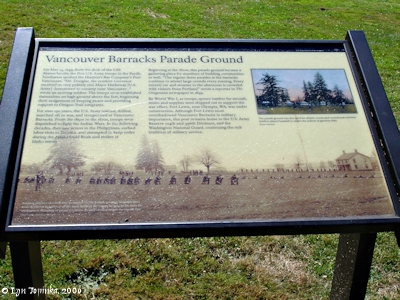 Image, 2006, Vancouver Barracks Parade Grounds, click to enlarge