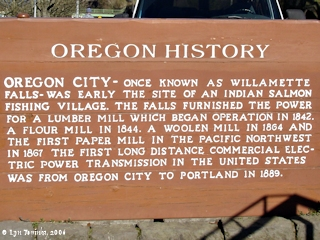 Image, 2006, Sign, Oregon History, Willamette Falls, click to enlarge
