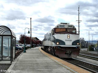 Image, 2007, Amtrak at Vancouver Station, click to enlarge