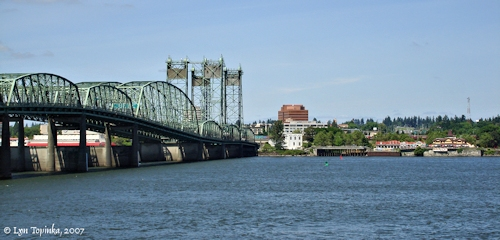 Image, 2007, Vancouver, Washington, and the Interstate-5 Bridge, click to enlarge