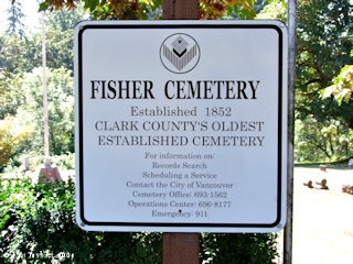 Image, 2009, Fisher Cemetery, Fishers Landing, Washington, click to enlarge