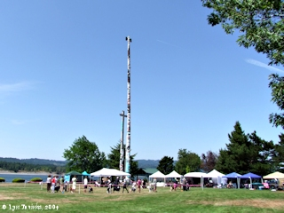 Image, 2009, Kalama Totems, Kalama, Washington, click to enlarge