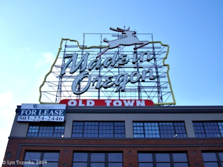 Image, 2009, Made In Oregon Sign, click to enlarge