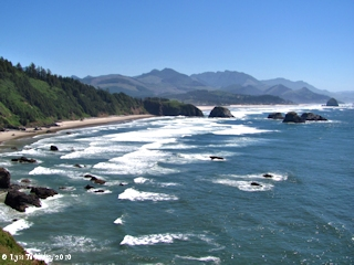 Image, 2010, Ecola Point looking south, Oregon, click to enlarge