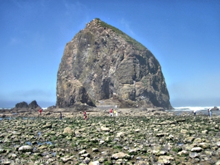 Image, 2010, Haystack Rock, Cannon Beach, Oregon, click to enlarge