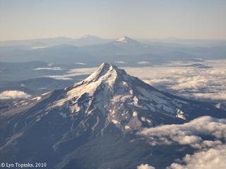 Image, 2010, Mount Hood and Mount Jefferson, click to enlarge