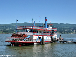 Image, 2011, Columbia Gorge Sternwheeler, click to enlarge
