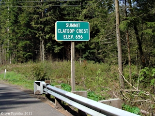Image, 2011, Clatsop Crest Summit Sign, click to enlarge