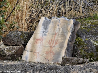Image, 2011, Pictographs, Horsethief Lake Park, Washington, click to enlarge