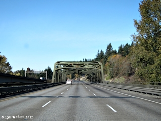 Image, 2011, Interstate 5 Bridge near Woodland, Washington, click to enlarge