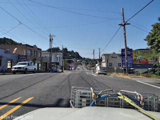 Image, 2011, Street scene, Rainier, Oregon, click to enlarge