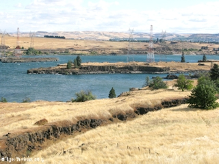Image, 2011, Rocky Island from Columbia Gorge Discovery Center, The Dalles, Oregon, click to enlarge