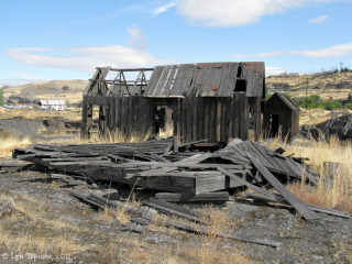 Image, 2011, Collapsed Indian Shaker Church, The Dalles, Oregon, click to enlarge