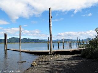 Image, 2012, Aldrich Point, Oregon, boat dock, click to enlarge
