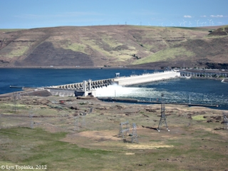 Image, 2012, John Day Dam from Washington State Highway 14, click to enlarge