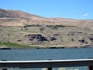 Image, 2012, Maryhill Museum, Washington, as seen from Interstate 84, Oregon, click to enlarge