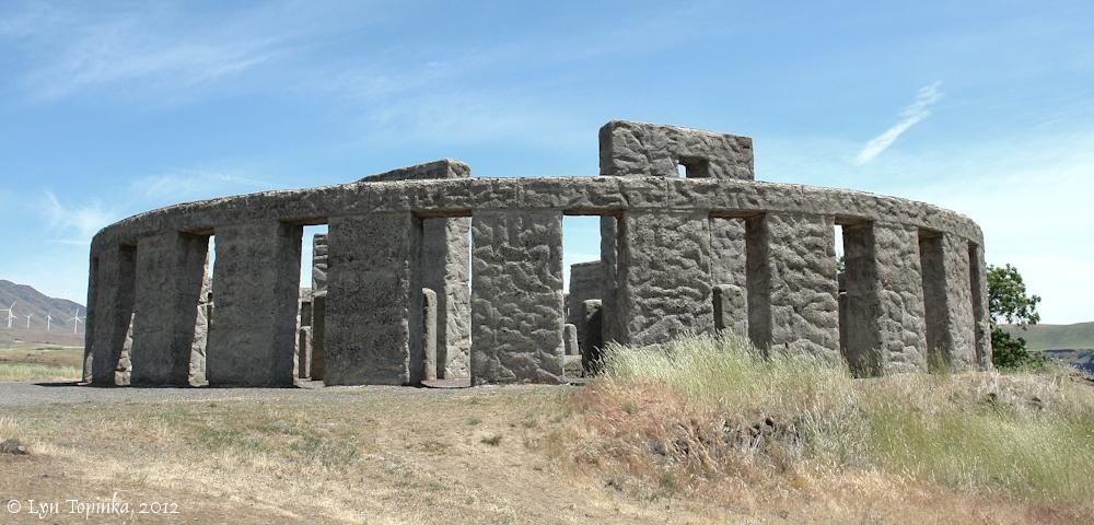 The Columbia River - Stonehenge Memorial, Maryhill, Washington